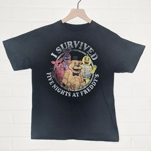 Five Nights at Freddy's FNAF Survived Graphic Tee